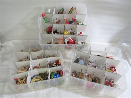 100+ Christmas Tree Ornaments with 3-Tier Storage Bin