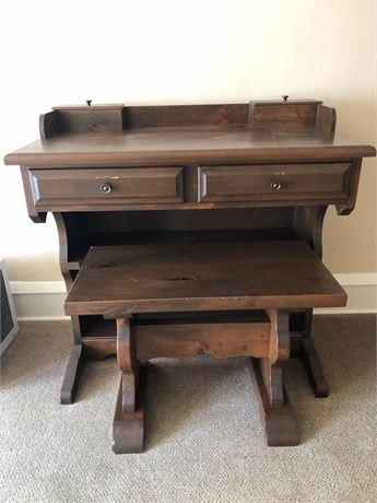 Antique Desk W.Bench