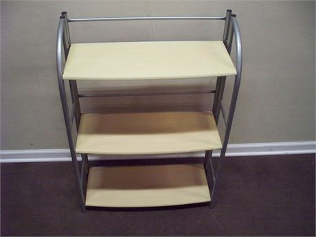 3-TIER WOOD AND METAL FOLDING DISPLAY/BOOKCASE