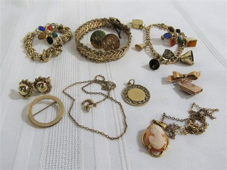 10 PIECE 12KT GOLD FILLED JEWELRY LOT