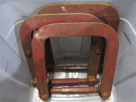 3- Vintage Fordson Tractor/Model A Era K. R. Wilson Bracket/Clamps