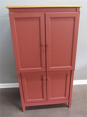 Painted Cabinet with Pullout Tray/Desktop