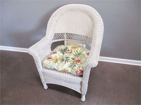 COMPOSITE WICKER ARM CHAIR