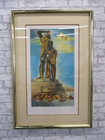 """THE COLLOSSUS OF RHODES"" BY SALVADOR DALI SIGNED AND NUMBERED"