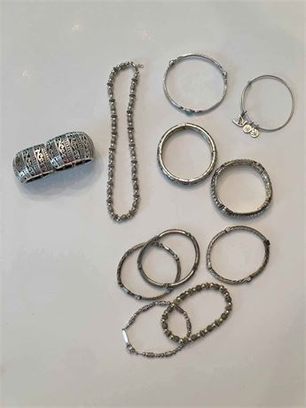 Silver Costume Jewelry Lot