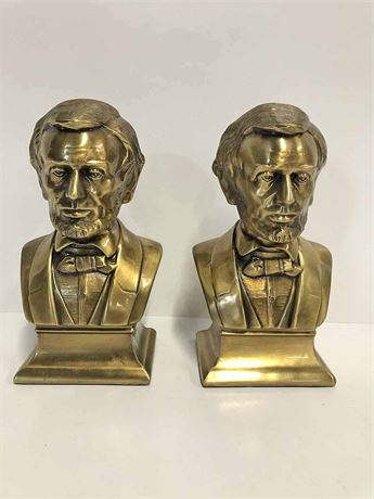 Brass Lincoln Bookends