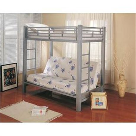 Twin-Over-Futon Metal Bunk Bed