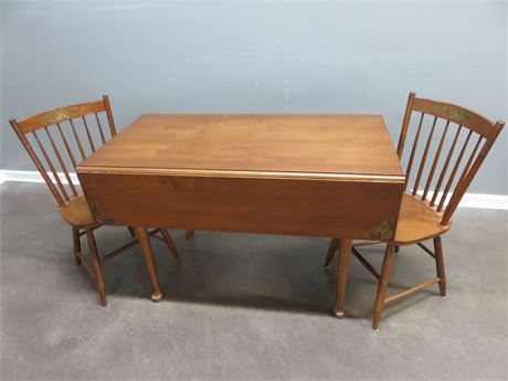 L. HITCHCOCK Dropleaf Table & Chairs