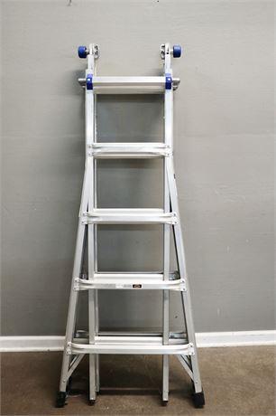 Like New - 21' Werner MT 22 Metal Ladder, 300lb. Capacity