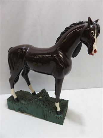 Hand-Carved Wooden Horse Figure