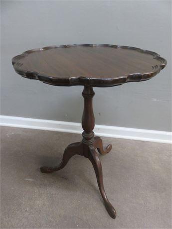 Vintage 19th Century Pie Crust Accent Table