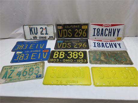 Vintage License Plate Lot
