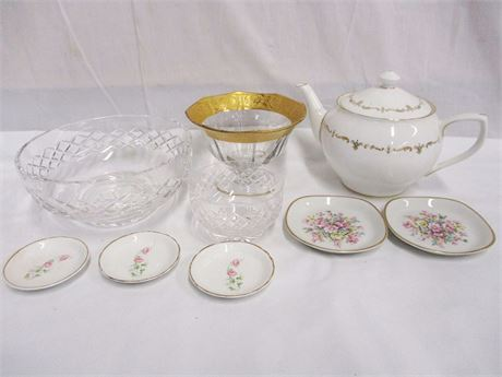 LOT OF CHINA AND CRYSTAL FEATURING ROYAL WORCESTER
