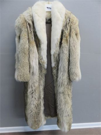 Ladies Full Length Coyote Fur Coat by Weiss