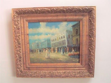 BEAUTIFUL FRAMED/SIGNED VINTAGE PAINTING BY FRENCH IMPRESSIONIST T. E. PENCKE
