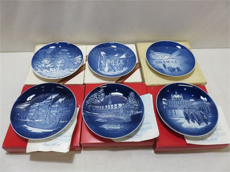 6-Piece BING & GRONDAHL Copenhagen Collector Plate Lot