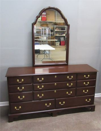 Harden Chippendale Style Dresser with Mirror from Brewster and Stroud