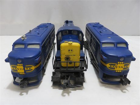 LIONEL Sante Fe Diesel Locomotive Lot