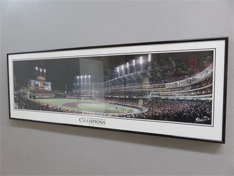 1997 CLEVELAND INDIANS World Series Game 4 Framed Panoramic Poster