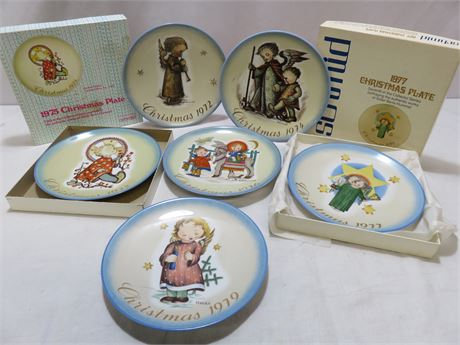 Vintage 1972-79 SISTER BERTA HUMMEL Christmas Plate Collection - SCHMID BROS.