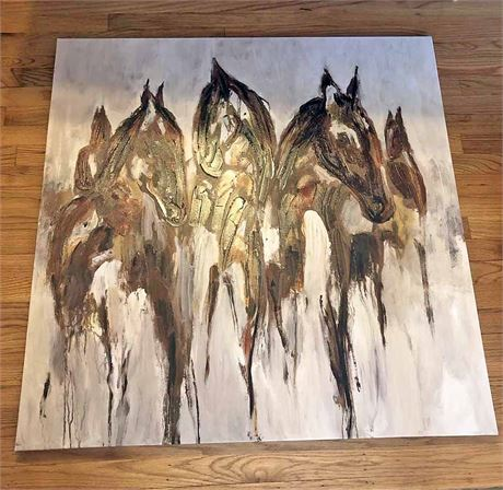 """Equestrian"" by Lisa Ridgers Canvas"