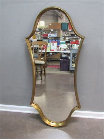 Large Mirror with Gold Finished Frame