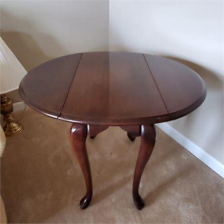 Cherry Drop Leaf End Table