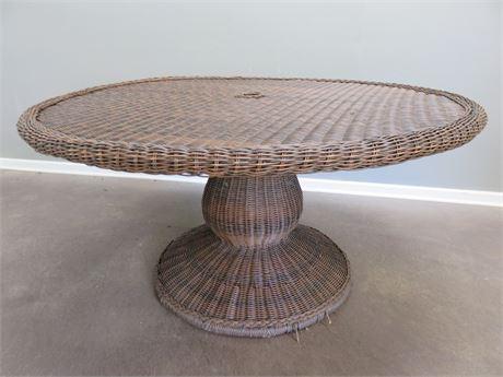 PIER 1 Wicker Patio Table