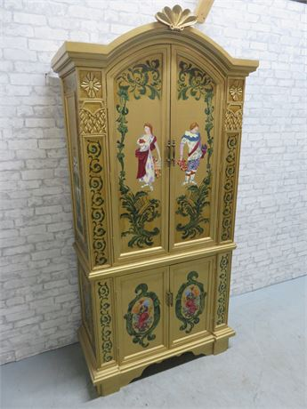 Asian Style Armoire Cabinet
