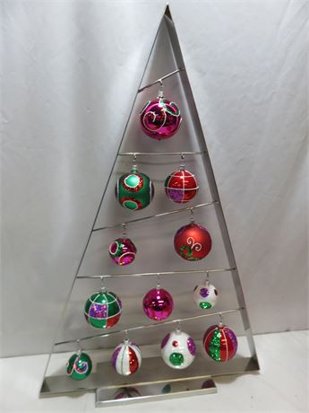 CRATE & BARREL Steel Christmas Tree Ornament Stand