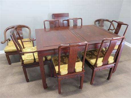 Asian Style Dining Table Set