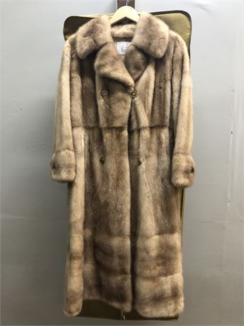 Mid-Century Blonde Mink Coat By: The Addis Co.