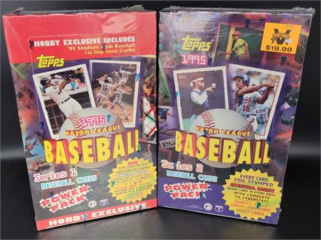 1995 TOPPS STADIUM CLUB SERIES 1 & SERIES 2 FACTORY SEALED HOBBY BOXES