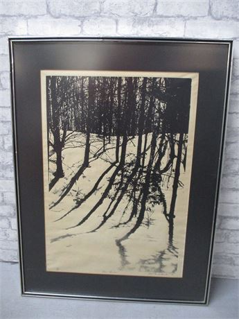 """DUNE SHADOWS"" PRINT #141/250 BY ALBERT FRANK QUINLAN"