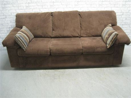 FRONTROOM FURNISHINGS LEDGER WALNUT SOFA