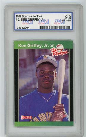 1989 Donruss The Rookies Ken Griffey Jr USA 9.8