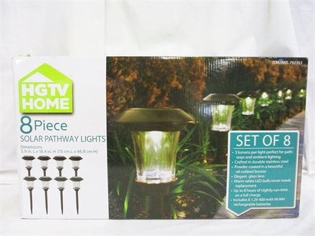 HGTV HOME SOLAR PATHWAY LIGHTS - NEW IN THE BOX
