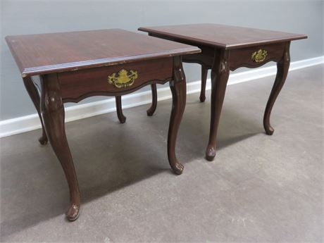 Queen Anne Cherry End Tables