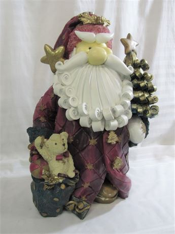 LARGE RESIN SANTA CLAUS