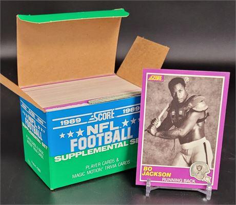 1989 SCORE FOOTBALL SUPPLEMENTAL SET W/ BO JACKSON