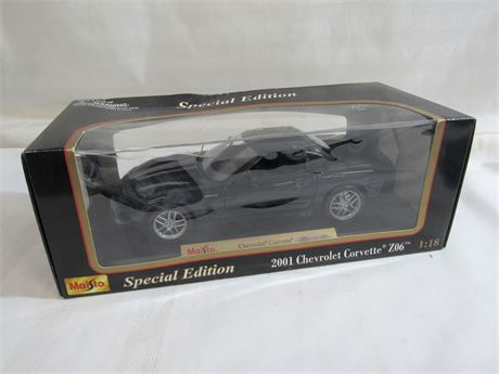 MAISTO SPECIAL EDITION 1:18 SCALE DIECAST - 2001 Z06 CORVETTE WITH BOX