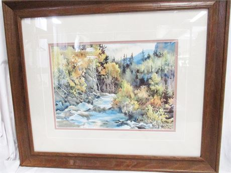 """""""CHALK CREEK"""" #2/200 BY RALEIGH KINNEY - SIGNED"""