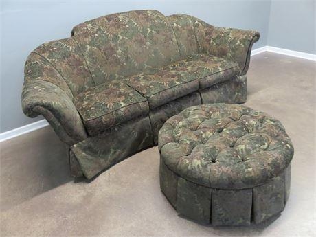 CENTURY FURNITURE Sofa & Matching Ottoman