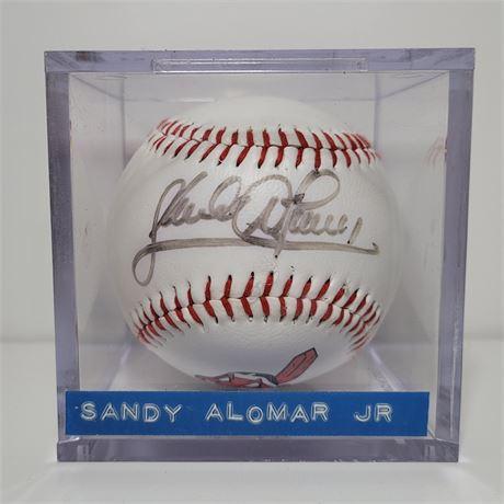 Sandy Alomar Jr Autographed Cleveland Indians Commemorative Baseball