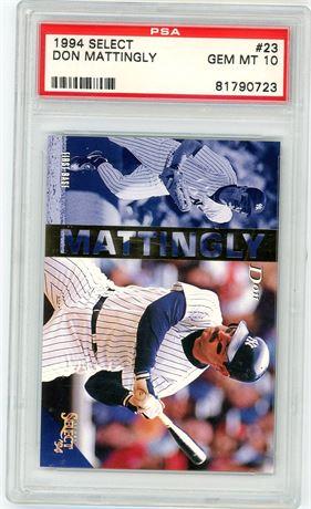 1994 Select Don Mattingly PSA 10