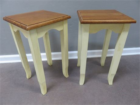 Wooden End Table / Plant Stands