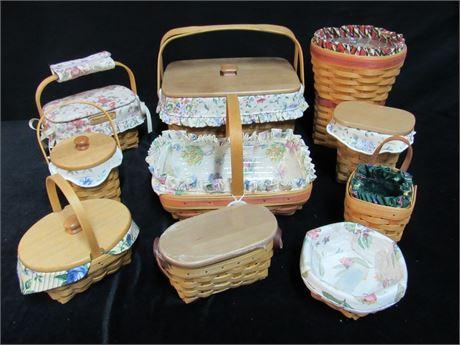 10 Piece Longaberger Basket Lot