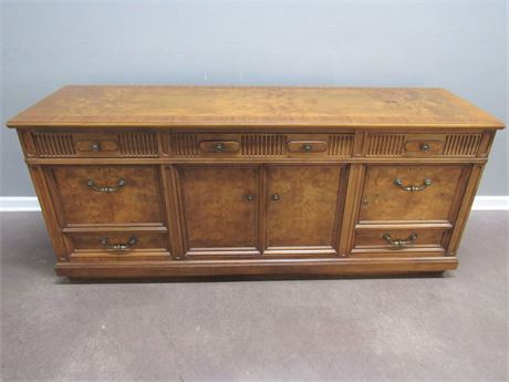 Beautiful Burl Wood Finish Office Credenza