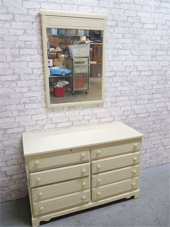 6-DRAWER DRESSER WITH MIRROR BY DIXIE