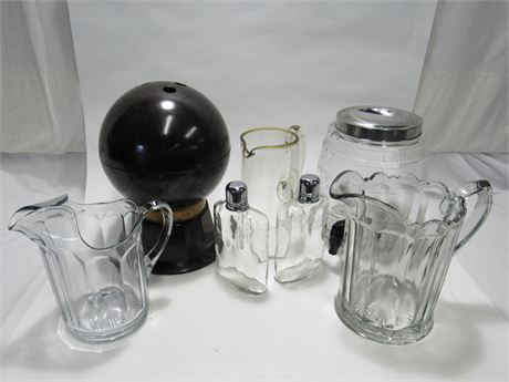 7 Piece Vintage Glassware/Barware Lot